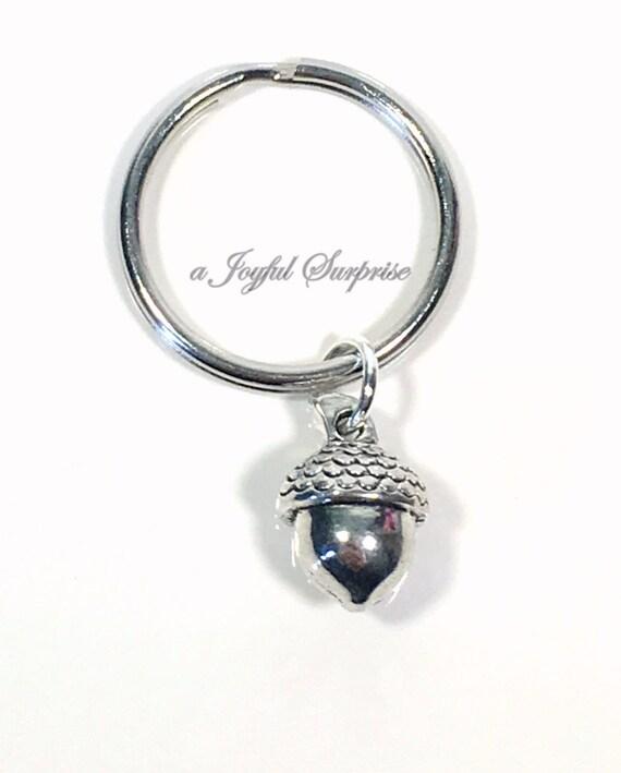 Acorn Keychain Acorn Keyring Silver Acorn Charm Acorn Gift  eb6c2b8bed94