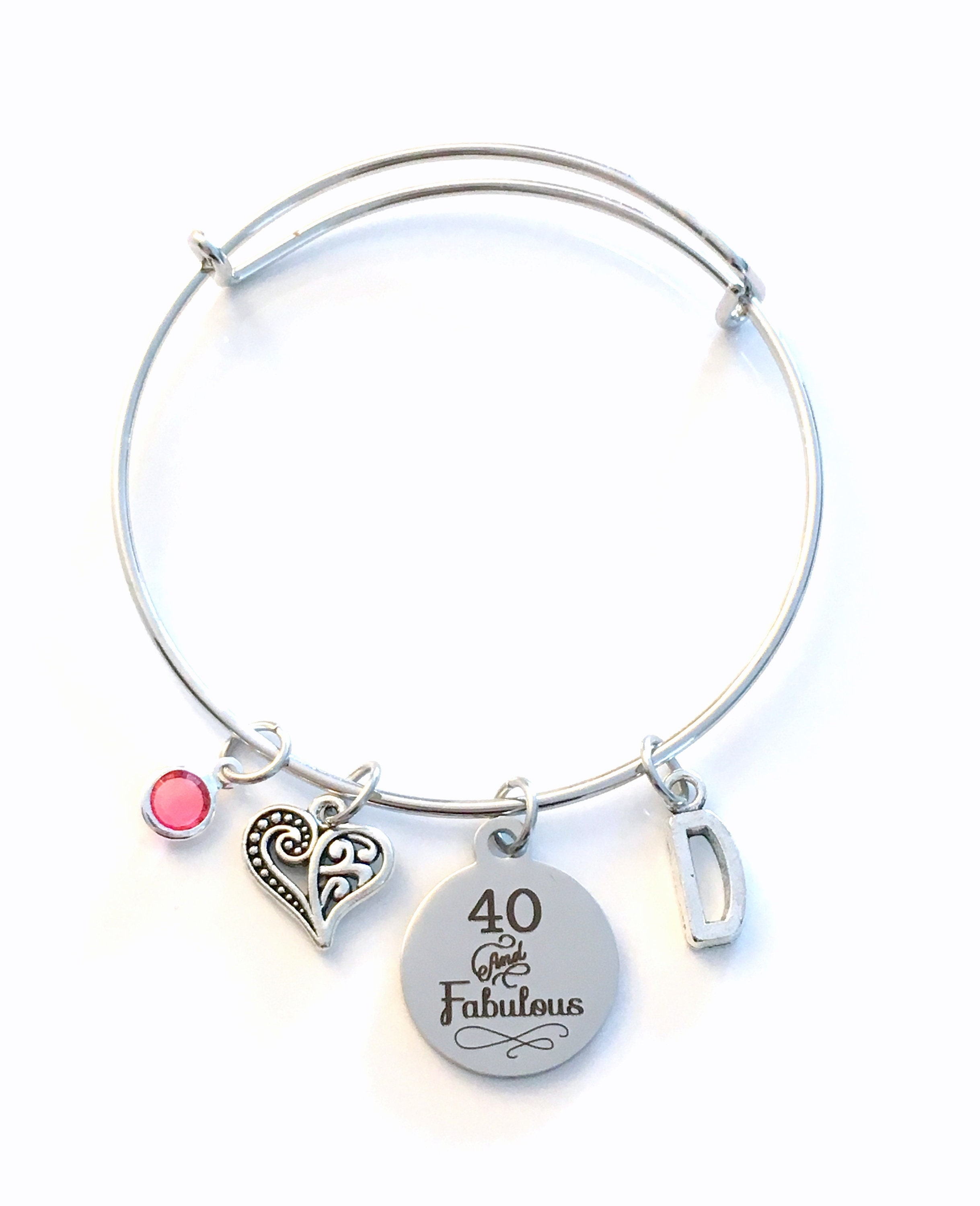 40th Birthday Gift For Women Jewelry Mom Bracelet Forty And