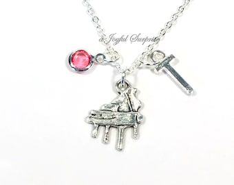 Piano Necklace / Gift for Pianist Jewelry Present / Music Charm Pendant