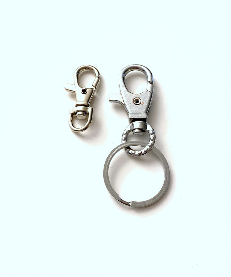 Silver Plated Lobster Swivel Clasps For Key Ring  Keychain  image 0