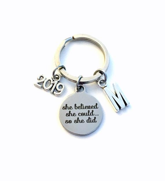 Herzlichen Glückwunsch Geschenk 2019 Oder Andere Jahr Dass Sie Konnte So Dass Sie Tat Ihr Glaubte Schlüsselbund Job Promotion Schlüsselanhänger