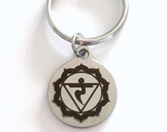 Manipura Solar Plexus Chakra KeyChain 3rd Third Kundalini Gift for Chinese Medicine Healer Present Key Chain keyring yoga willpower ego
