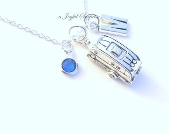 Camper Necklace RV Jewelry Camping Charm Gift for Campground Friend RV Trailer Vehicle Custom Personalized Initial Birthstone Canada present