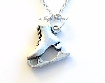 Skate Necklace, Figure Skating Jewelry Gift Skater Mom Necklace for Man Figure Skater Male Boy Instructor birthday gift Christmas present