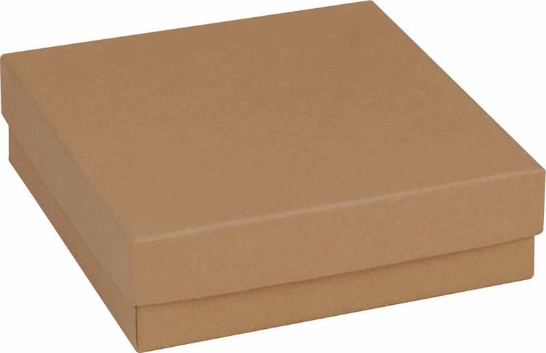Gift Box Add on Note with Present Jewelry PackagingBrown image 0