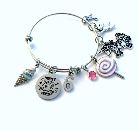 Jewelry Beauty 6th 7th 8th 9th Birthday Charm Bracelet Necklace Gift For 6 7 8 9 Year Old Daughter Granddaughter Girl Craft Supplies Tools
