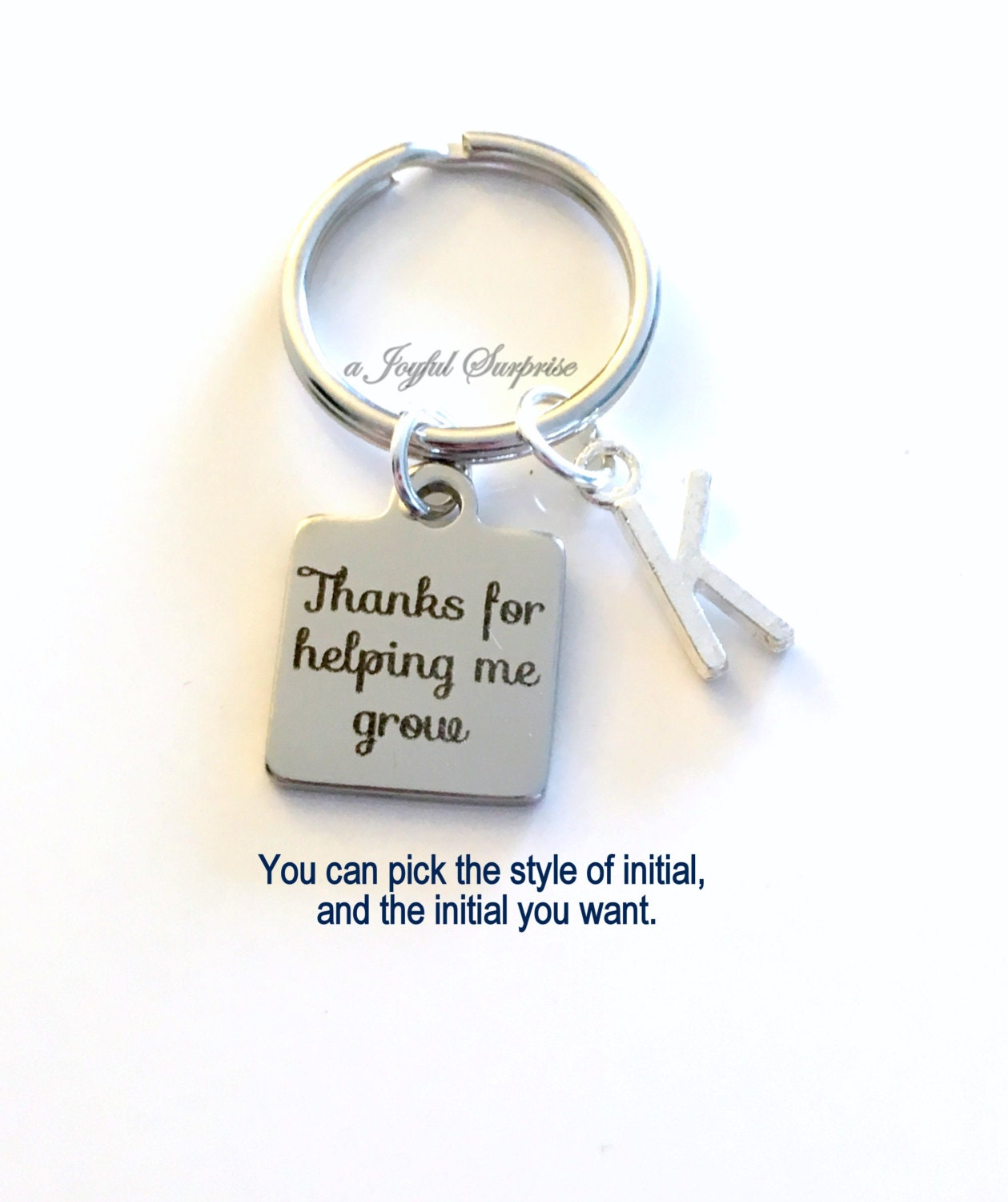 Thanks For Helping Me Grow Gift Man Teacher Key Chain