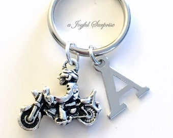 Motorcycle Keychain/ Gift for Boyfriend Keyring / Husband Key Chain / Birthday or Anniversary present for Father's Day / Groomsmen Dad Daddy