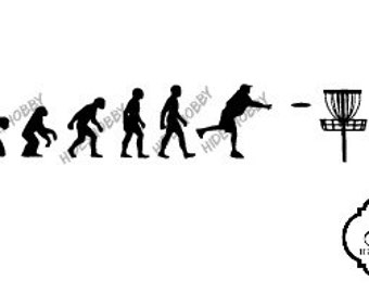 Evolution Of Disc Golf decal window car macbook phone