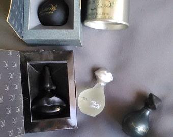 LOT de4 miniatures de DALI  (peintre Espagnol ayant vécu en France)  toutes pleines , 3 avec leur boîte