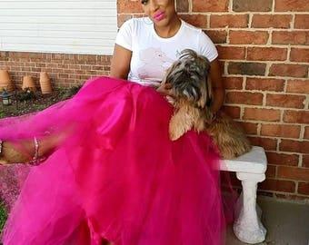 41c09fe6c15d1 Tulle Skirt PLUS SIZE Tutu Hot Pink