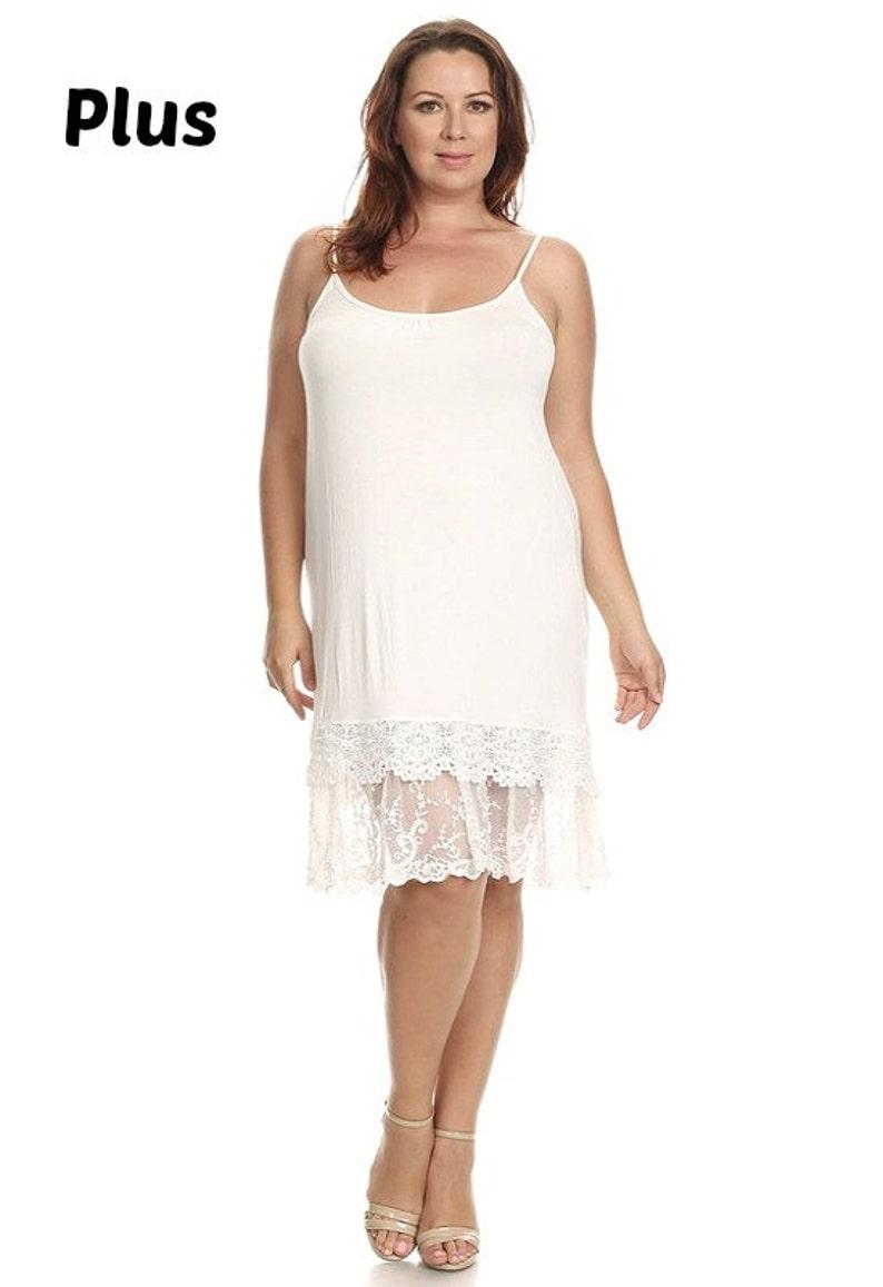 Full Slip Lace Slip extender PLUS SIZE for dress or skirt to | Etsy