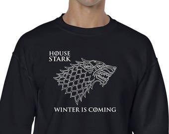 Sudadera inspirada en serie Game Of Thrones, House Stark, WinterFell, Winter is coming, Se acerca el invierno, regalo de navidad
