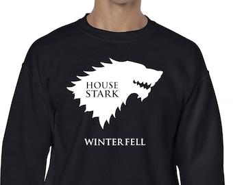 Sudadera House House Stark Winterfell, Sudadera inspirada en serie, House Stark, Casa Stark ideal regalo de navidad