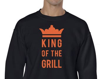 King of the grill Sudadera, ideal regalo de navidad, sudaderas divertidas, regalo hombres, ideal regalo para el rey de la barbacoa, navidad