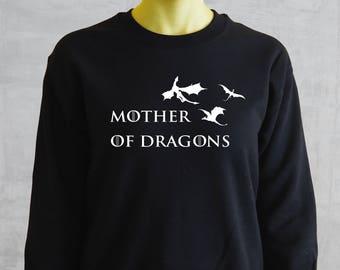 Sudadera Madre de dragones , Mother of Dragons, Khaleesi, sudadera unisex, regalo de navidad inspirada en la serie Game of thrones