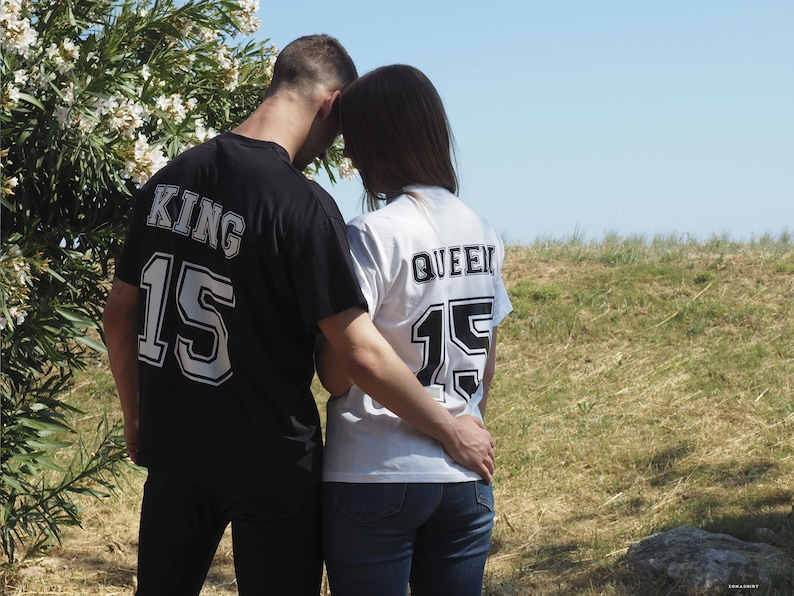 84c2ecbb King Queen shirt personalized t-shirts for lovers King and | Etsy