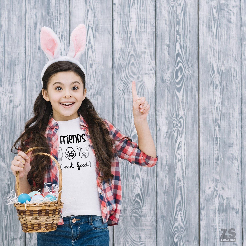 Friends Not Food TShirt for Children Cute Vegan Toddler Shirt Kids Vegan Shirt