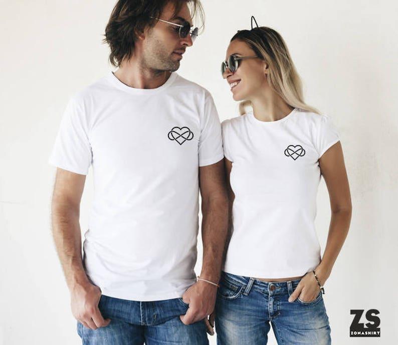 d87d05ff8a5 Camisetas para San Valentín camisetas corazón infinito San | Etsy