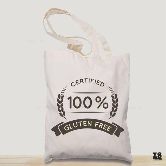 b0232627b Gluten free bolsa de tela estampada con el diseño Gluten Free | Etsy