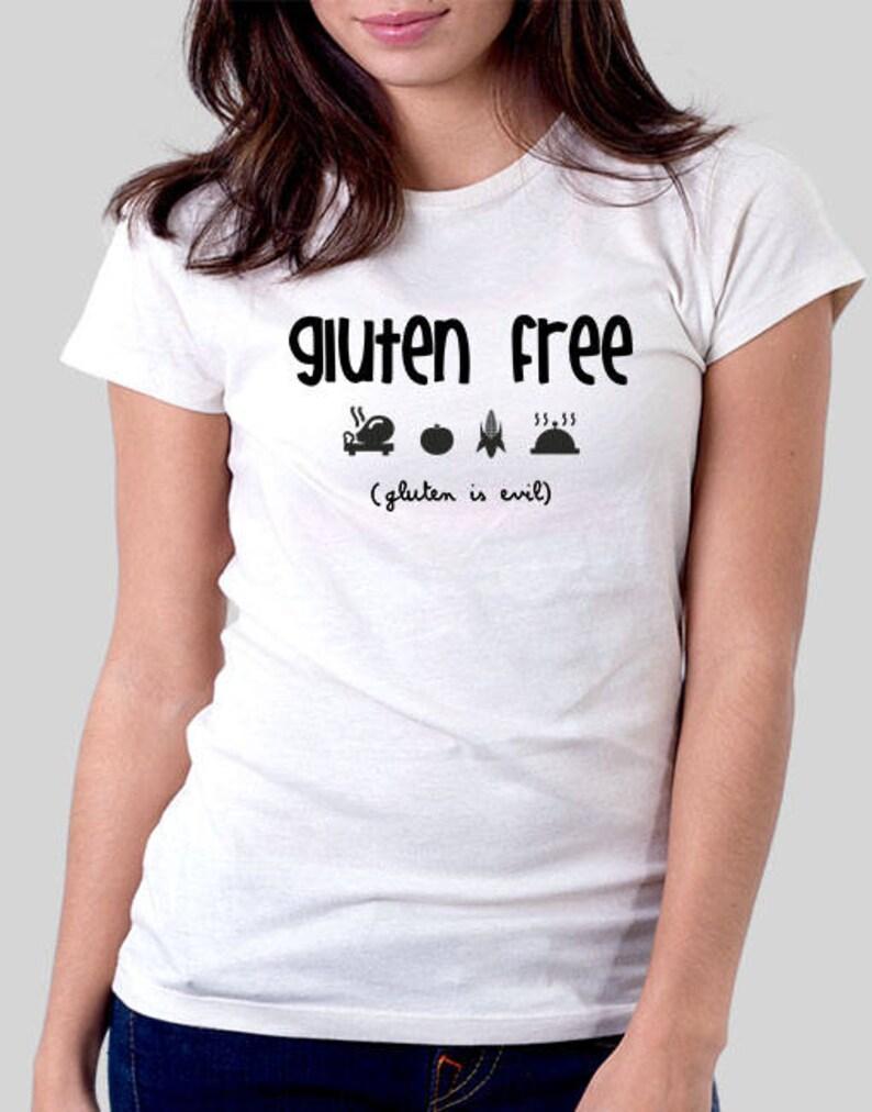 Camiseta Gluten free diseño sin gluten regalo para celíacos  2e8248cbab534