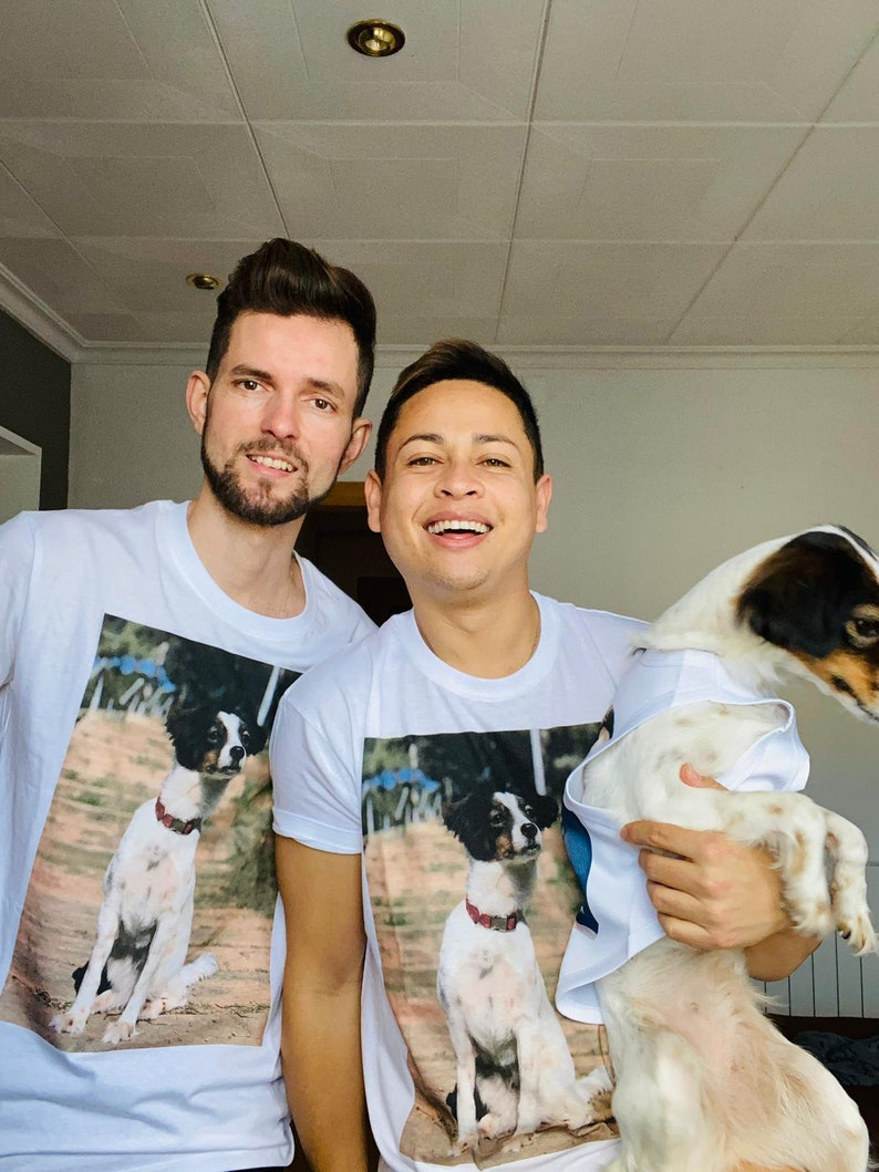 Matching dog and owner t-shirts dog face t-shirt gift for image 0