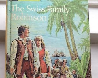 Robinson Crusoe - swiss family robinson - Daniel Defoe - Bon Voyage present - vintage adventure stories - vintage children's books
