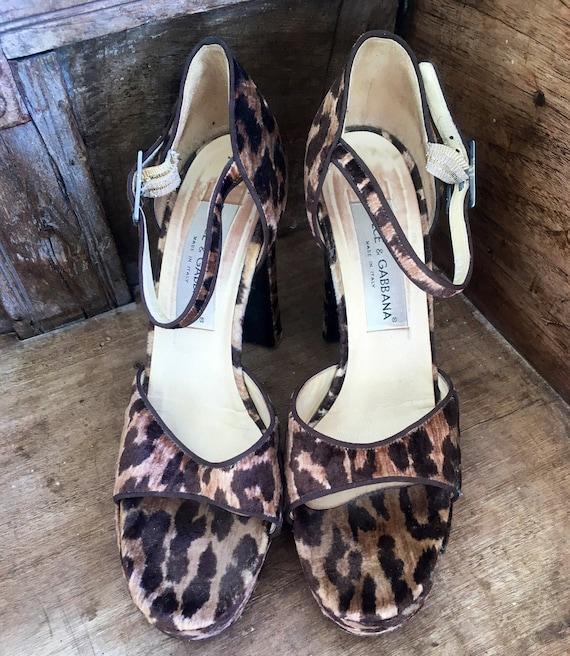 Gabbana designer shoes leopard print