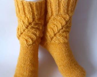 Women's Socks Wool Socks in Yellow Gift for women