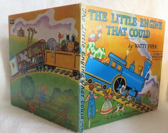 The Little Engine That Could by Watty Piper Circa 1970s, Platt Munk Publishers Beloved Children's Book Inspirational Book for Children