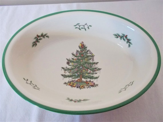 Spode Christmas Tree.Spode Christmas Tree China Spode Christmas Oval Vegetable Dish Spode Christmas Treeserving Dish