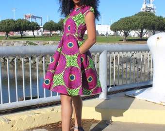 African print dress, Ankara dress, African clothing (Please read item details, 2-3 day delivery)