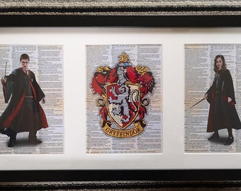 HP Wizard Framed dictionary Prints