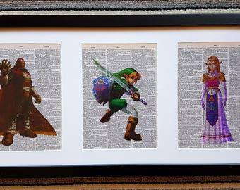 Zelda Framed Dictionary Prints