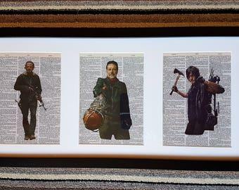 Walking Dead Framed Dictionary Print