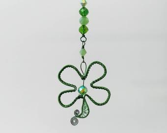Four Leaf Clover Saint Patrick's Day Ornament Sun Catcher