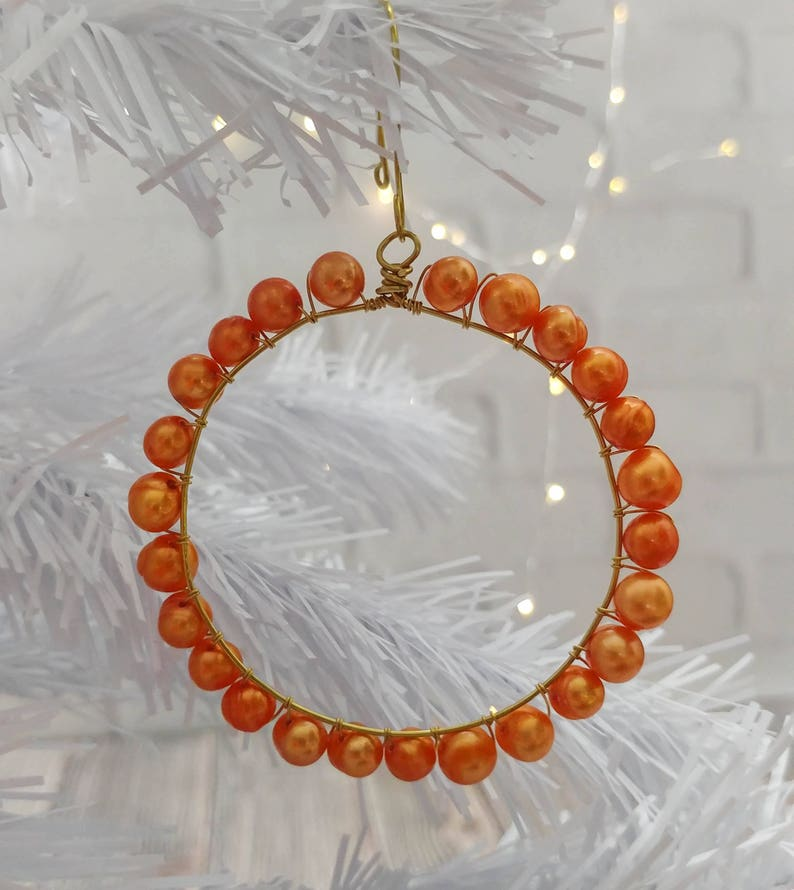 Freshwater Pearl Ornaments in Gold
