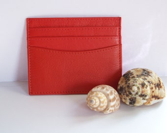 Red card holder etsy leather card holder in portland red red leather card holder red leather card case red leather business card case red card holder colourmoves