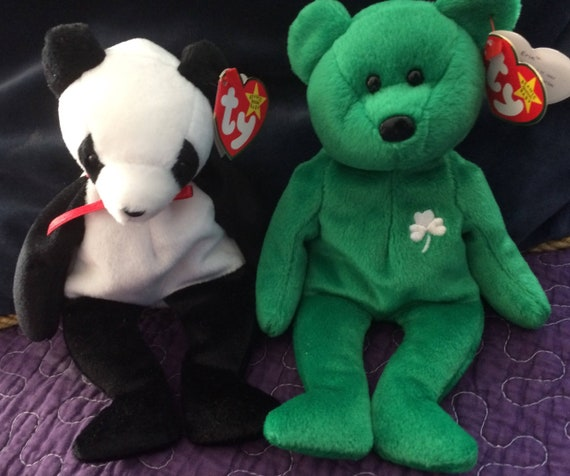 2d41c8b58f7 Ty Bears ERIN and FORTUNE Both Beanie Baby Bears Excellent