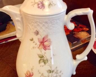 Schumann Arzberg Bavaria Elegant Rose Coffeepot 1970s ~ Summer 2017 Sale!