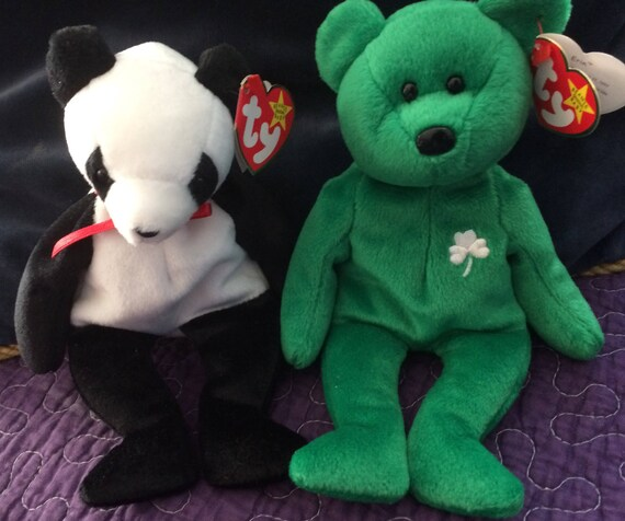 Ty Bears ERIN and FORTUNE Beanie Baby Bears Excellent 860efb08deb