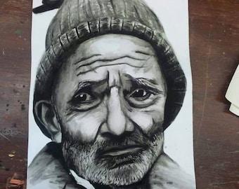 Custom Hand-drawn Single Person Portrait