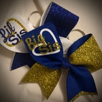 Sisters Cheer BOW KEYCHAIN Big/Lil Sis MANY Colors, Cheer Gift Cheer Sisters Keychain Bow Ask me to design something specific for you today!