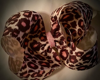 LEOPARD Boutique Bow~SHIPS FREE