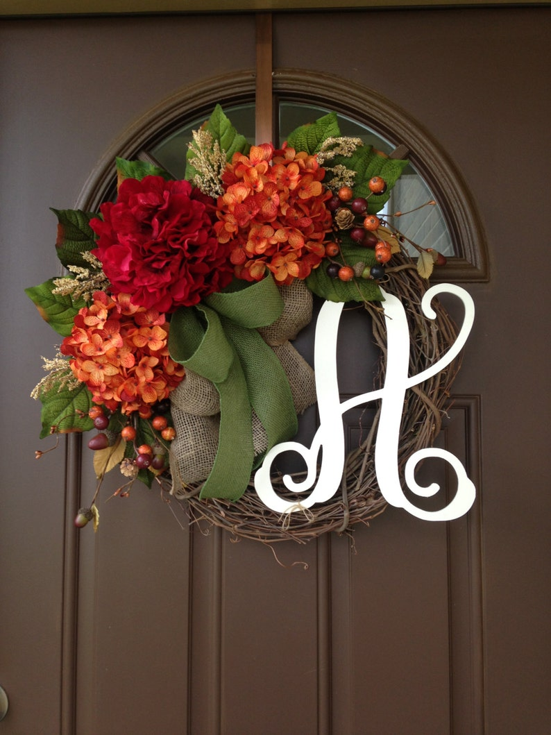 Fall Wreath Fall Decor  Fall Decorations  Fall Door Hanger image 0
