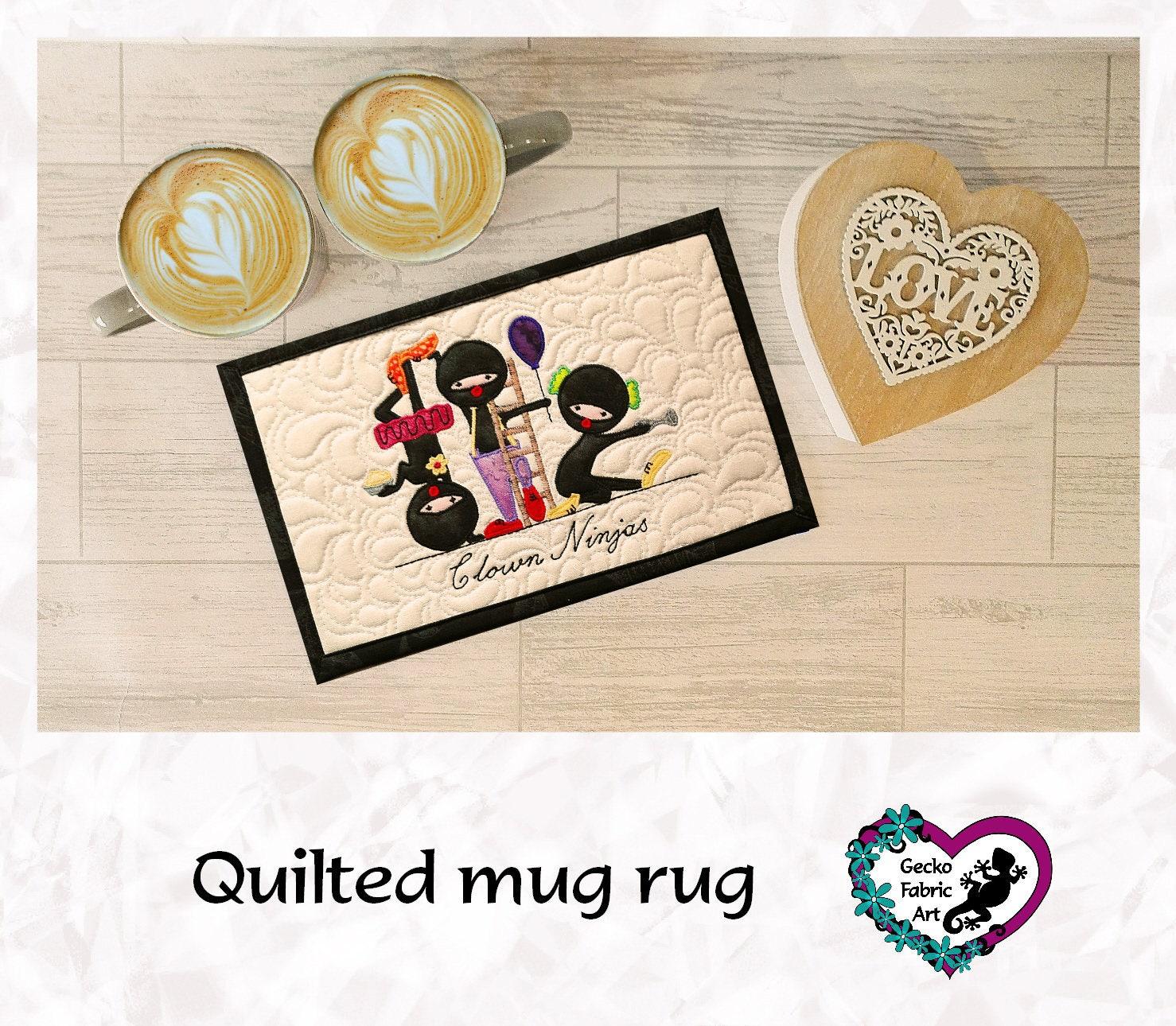 Clown Ninjas Ninjas Mug Rug Quirky Gift Clown Gift Ninja