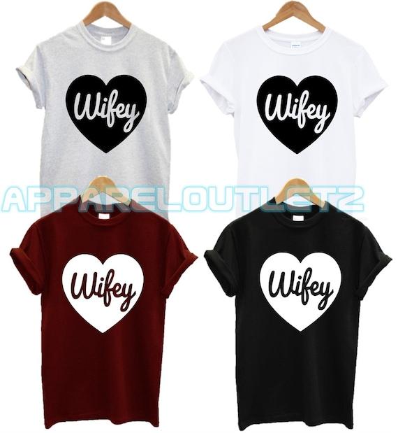 Hubby Sweatshirt Mens Husband Boyfriend /'Wifey/' Sweater Jumper Wifey Boyfriend