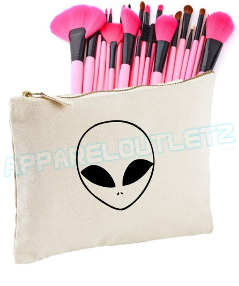 Alien Make Up Bag Ufo Spaceship Planet Makeup Girls Womens Etsy
