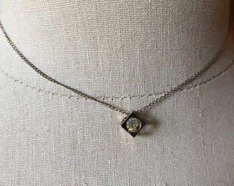 1970's gold/zirconium boxed necklace