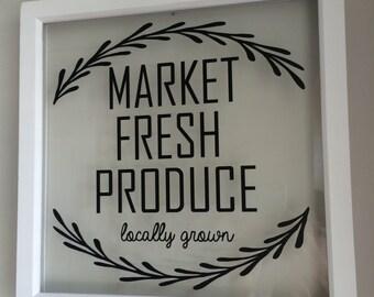 Market Fresh Produce sign